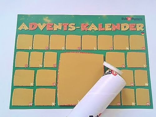 Rub-it Rubbel Poster Adventskalender DIN A 3
